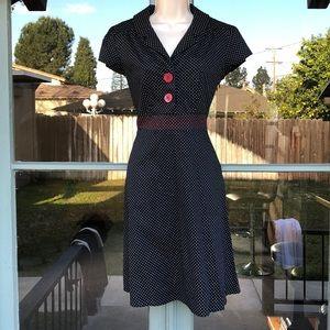 Like new polka dot vintage style dress